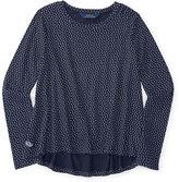 Ralph Lauren Polka-Dot Cotton Jersey Top