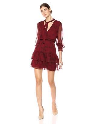 BB Dakota Women's Wine Down Printed Dress