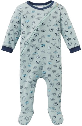 Schiesser Cool Dogs Boys pajamas with foot
