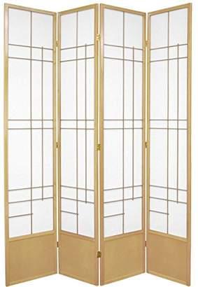 Oriental Furniture 7 ft. Tall Eudes Shoji Screen - - 4 Panels