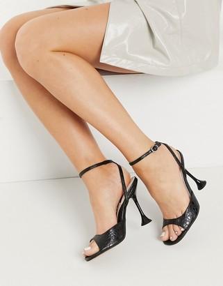 Topshop skinny heels in white