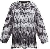 Issey Miyake Itajime Shibori-dyed Shirt - Womens - Black White