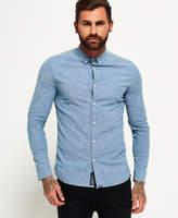 Superdry Tailored Long Sleeve Indigo Slim Shirt