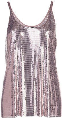 Paco Rabanne Gathered Chainmail Dress