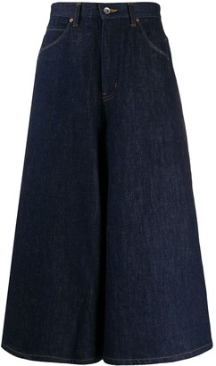 Needles Wide-Leg Cropped Jeans