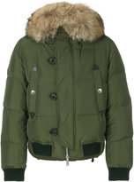 DSQUARED2 padded fur collar jacket