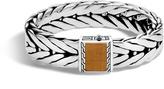 John Hardy Men's Modern Chain 16MM Bracelet in Sterling Silver with Brown Tiger Eye