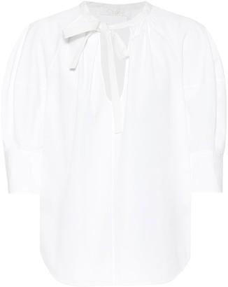 Chloã© Cotton-poplin blouse