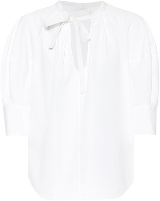Chloé Cotton-poplin blouse
