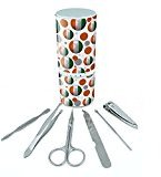 Manicure Pedicure Grooming Beauty Personal Care Travel Kit (Tweezers,Nail File,Nail Clipper,Scissors) - Soccer Futbol Football Country Flag A-I Cote d'Ivoire Ivory Coast Flag Soccer Ball