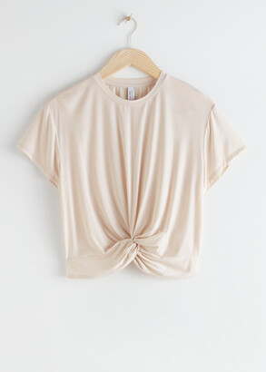 And other stories Twist Knot Top