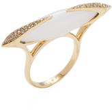 Maiyet 18K Yellow Gold, Moonstone & 0.12 Total Ct. Diamond Dagger Slice Ring