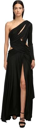 Redemption One-shoulder Viscose Long Dress