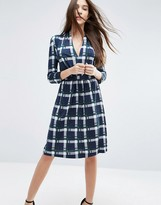 French Connection Clarence Check Jersey Dress
