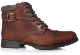Red Tape Tan Leather Lace Up Boots
