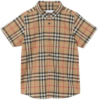 Burberry SHORT SLEEVED CHECK COTTON SHIRT