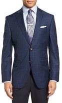 David Donahue Men's 'Connor' Classic Fit Plaid Wool Sport Coat