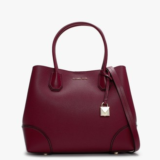Michael Kors Annie Medium Berry Pebble Leather Tote Bag