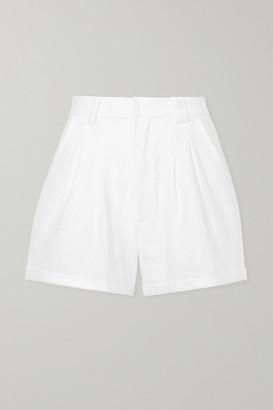 Paradised - Jamie Crinkled Cotton-gauze Shorts - White