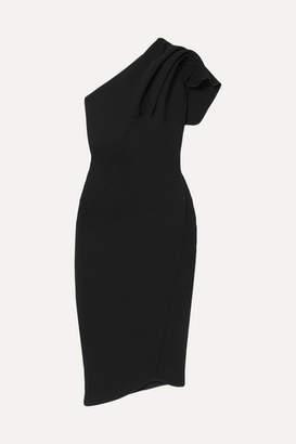Maticevski Dahlia One-shoulder Ruffled Cady Dress - Black