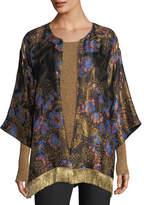Etro Kesa Floral Jacquard Fringe Jacket
