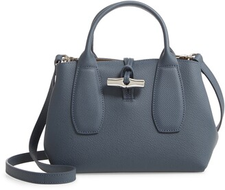 Longchamp Small Roseau Leather Crossbody Tote