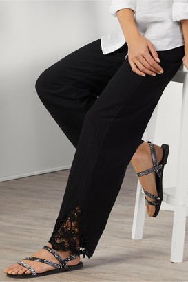 Women Touch of Lace Gauze Pants
