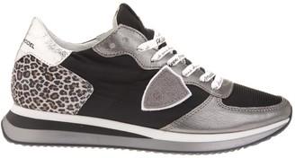 Philippe Model Tropez X Woman Sneakers With Leopard Print Heel
