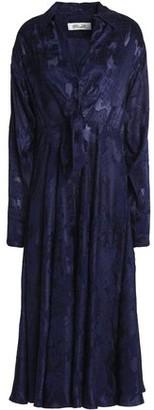 Diane von Furstenberg Fluted Fil Coupe Midi Shirt Dress