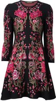 Roberto Cavalli floral design knitted dress - women - Polyester/Viscose - 42