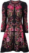 Roberto Cavalli floral design knitted dress