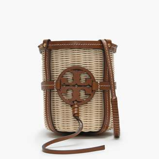 Tory Burch Miller Classic Tan Leather Wicket Basket Bag