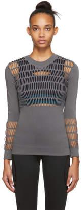 adidas by Stella McCartney Grey Knit Campaign Warp Long Sleeve T-Shirt