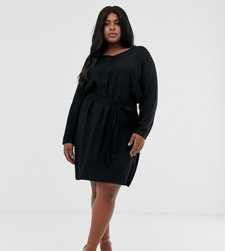 Junarose tie waist dress-Black