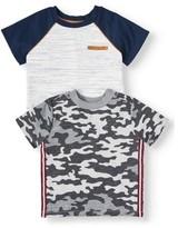 Wonder Nation Toddler Boy Short Sleeve Graphic T-Shirt, 2 pk
