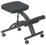 Office Star Work Smart Ergonomically Designed Knee Chair with Casters and Memory Foam
