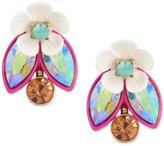 Betsey Johnson Gold-Tone Multi-Stone Garden Motif Ear Jacket Earrings