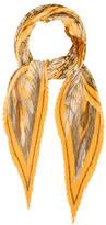 Hermes Casse-Noisette Silk Plissé Scarf