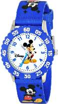 Disney Kids' W000009 Mickey Mouse Stainless Steel Time Teacher Watch