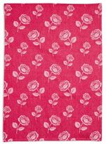 Sur La Table Rose Jacquard Kitchen Towel