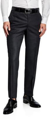 Brioni Men's Flannel Wool Straight-Leg Pants