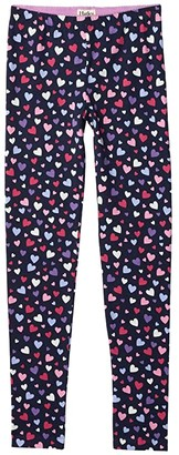 Hatley Confetti Hearts Leggings (Toddler/Little Kids/Big Kids) (Purple) Girl's Casual Pants