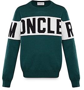 Moncler Unisex Logo Stripe Sweater - Big Kid