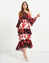 Star by Julien Macdonald Tiered Floral Maxi Dress