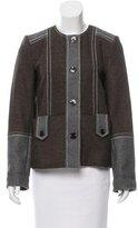 Suno Colorblock Collarless Jacket