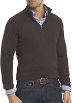 Van Heusen Block Ribbed Quarter-Zip Sweater