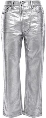Acne Studios Metallic High-rise Straight-leg Jeans