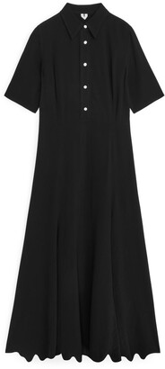 Arket Short-Sleeved Crepe Dress