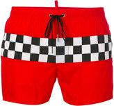 DSQUARED2 checkerboard swim shorts