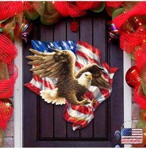 Designocracy by Dona Gelsinger American Liberty Eagle Wall and Door Hanger
